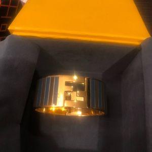 "Fendi Jewelry - Fendi Fendista - Gold Metal & ""Ff"" Logo Cuff"